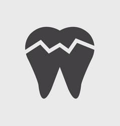 Broken tooth icon vector