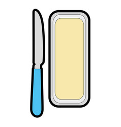 butter bar and knife icon vector image vector image