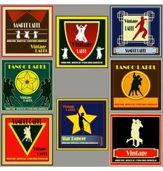 dance vintage label set vector image vector image