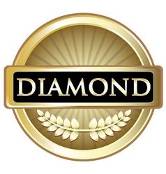 Diamond Gold Label vector image vector image