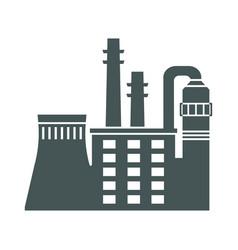 factory black icon vector image