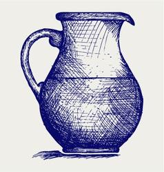 Milk pitcher vector image