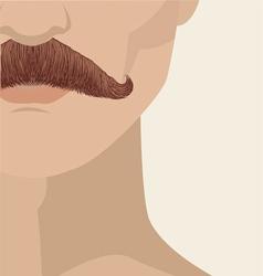 mustache man vector image vector image