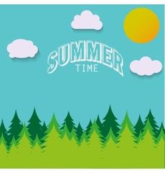 Nature - summer landscape in vector image