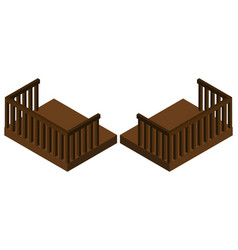3d design for wooden balcony vector image