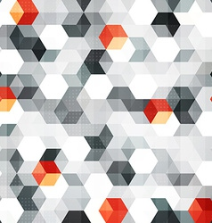 Abstract cubes seamless pattern with grunge effect vector