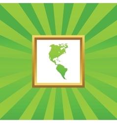 America picture icon vector image