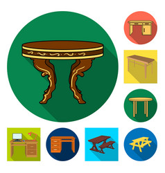 and table logo collecti vector image
