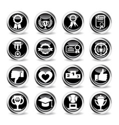 Award icon set vector