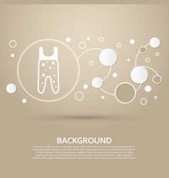 Baby pantyhose icon on a brown background with vector