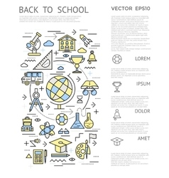 Back to school vertical concept vector