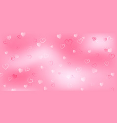 background with small hearts on valentines day vector image