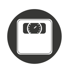 Balance scale isolated icon vector