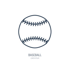 Baseball softball line icon ball logo vector