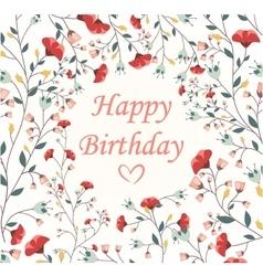 Beautiful birthday card vector