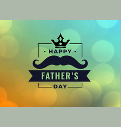 beautiful happy fathers day banner vector image