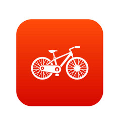 bicycle icon digital red vector image