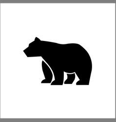 big walking black bear monochrome vector image