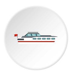 Big yacht icon circle vector