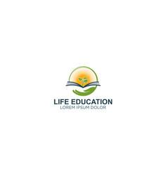 Book logo - live education modern logo vector