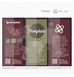 Brochure mock up design template for business vector