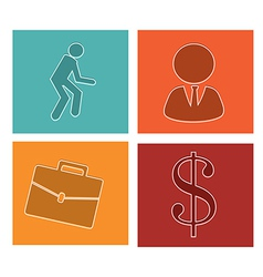 business icons-set 2 vector image