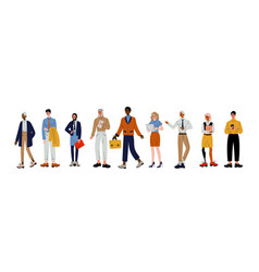 business people set group office employees vector image