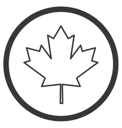 Canadian badge icon vector