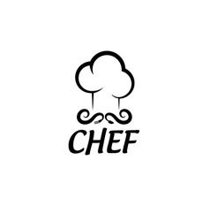 chef design template vector image vector image