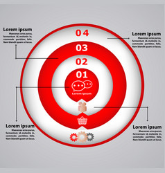 Circular diagram with icons for business concepts vector