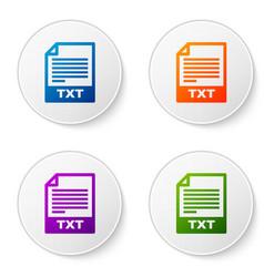 color txt file document icon download txt button vector image