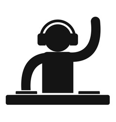 Dj party icon simple style vector