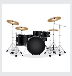 Drum Set Black vector image vector image