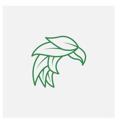 Eagle leaf minimalist line modern logo design vector
