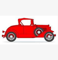 Early motor car vector