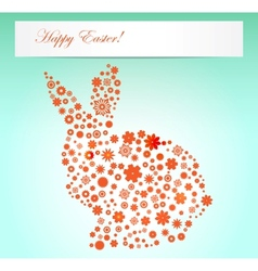 Easter spring flowers rabbit shape vector image
