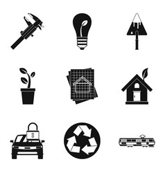 electric transport icons set simple style vector image
