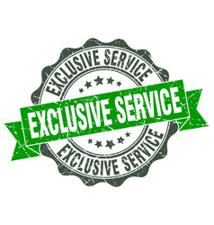 Exclusive service stamp sign seal vector