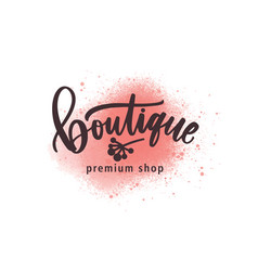 Fashion premium shop logo vector