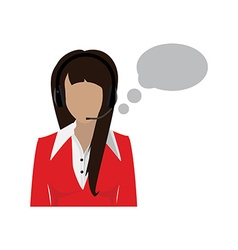 Female call center avatar vector image