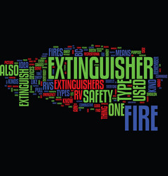 Fire safety and rv text background word cloud vector
