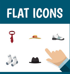 flat icon clothes set of elegant headgear vector image
