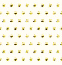 funny bee seamless pattern background vector image