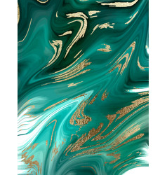 Green marble and gold abstract background texture vector