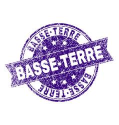 Grunge textured basse-terre stamp seal vector