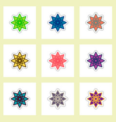 label icon on design sticker collection ramadan vector image