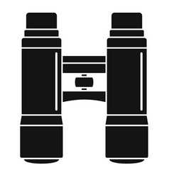 Lifeguard binoculars icon simple style vector