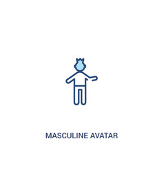 Masculine avatar concept 2 colored icon simple vector