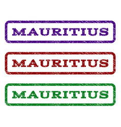 mauritius watermark stamp vector image vector image