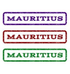 mauritius watermark stamp vector image